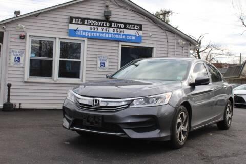 2016 Honda Accord for sale at Deals N Wheels 306 in Burlington NJ