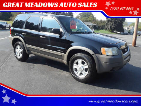 2002 Ford Escape for sale at GREAT MEADOWS AUTO SALES in Great Meadows NJ