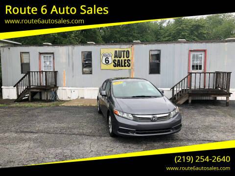 2012 Honda Civic for sale at Route 6 Auto Sales in Portage IN