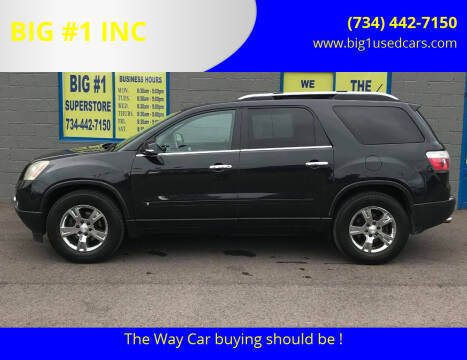 2009 GMC Acadia for sale at BIG #1 INC in Brownstown MI