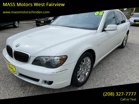 2008 BMW 7 Series for sale at M.A.S.S. Motors - West Fairview in Boise ID