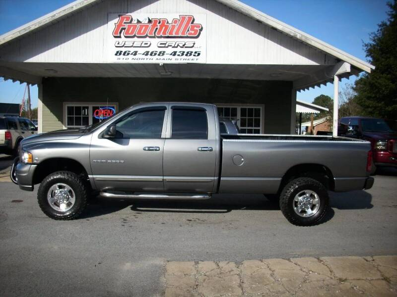 2005 Dodge Ram Pickup 2500 for sale at Foothills Used Cars LLC in Campobello SC