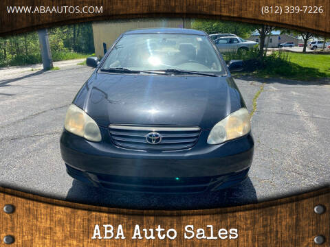 2004 Toyota Corolla for sale at ABA Auto Sales in Bloomington IN