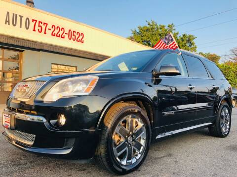 2011 GMC Acadia for sale at Trimax Auto Group in Norfolk VA