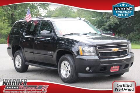 2013 Chevrolet Tahoe for sale at Warner Motors in East Orange NJ