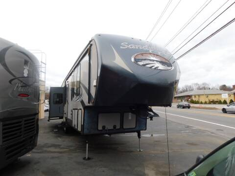 2015 Forest River Sandpiper 371REBH for sale at Autowright Motor Co. in West Boylston MA