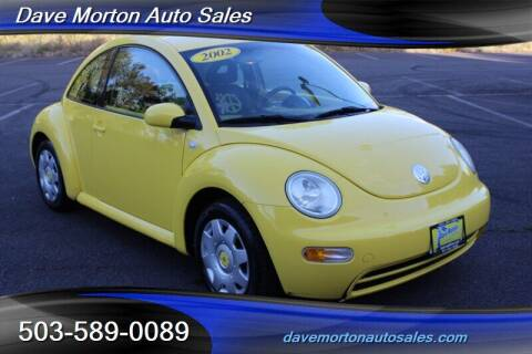 2002 Volkswagen New Beetle for sale at Dave Morton Auto Sales in Salem OR