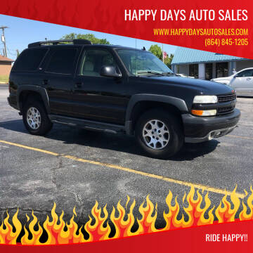 2006 Chevrolet Tahoe for sale at Happy Days Auto Sales in Piedmont SC