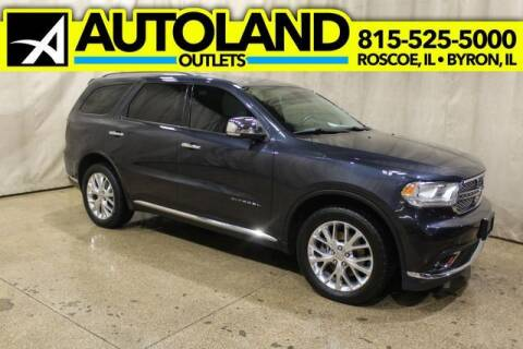 2015 Dodge Durango for sale at AutoLand Outlets Inc in Roscoe IL