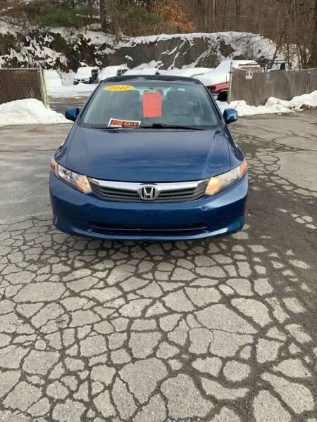 2012 Honda Civic for sale at ALAN SCOTT AUTO REPAIR in Brattleboro VT