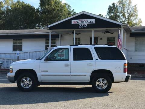 2002 Chevrolet Tahoe for sale at CVC AUTO SALES in Durham NC
