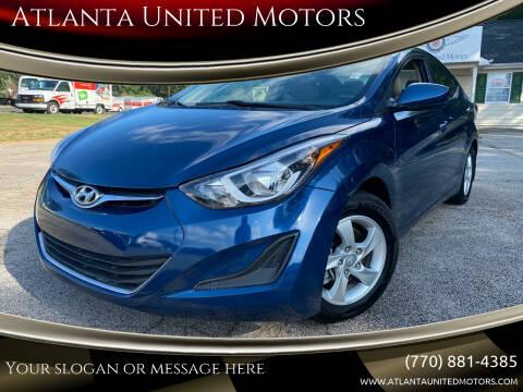 2015 Hyundai Elantra for sale at Atlanta United Motors in Jefferson GA
