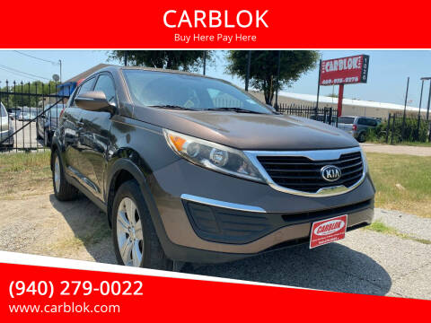 2013 Kia Sportage for sale at CARBLOK in Lewisville TX