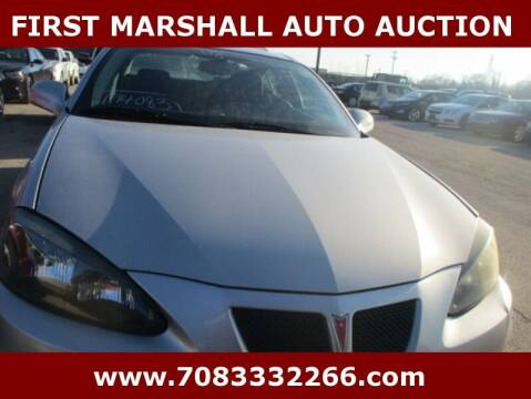 2008 Pontiac Grand Prix for sale at First Marshall Auto Auction in Harvey IL