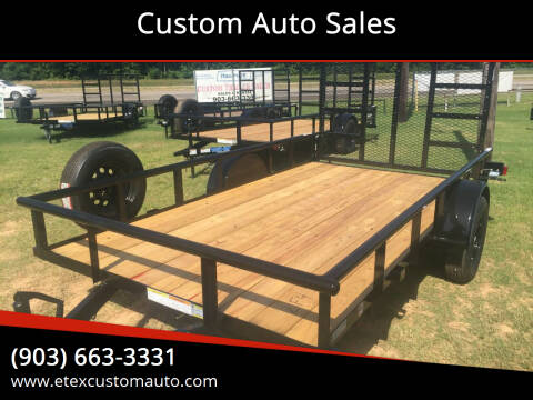 2021 Top Hat 12x77 Utility Trailer for sale at Custom Auto Sales - TRAILERS in Longview TX