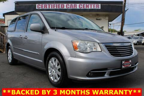 2013 Chrysler Town and Country for sale at CERTIFIED CAR CENTER in Fairfax VA