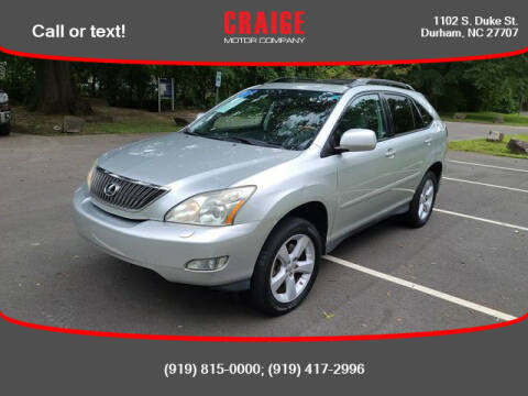 2007 Lexus RX 350 for sale at CRAIGE MOTOR CO in Durham NC