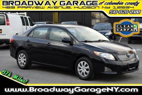 2010 Toyota Corolla for sale at Broadway Garage of Columbia County Inc. in Hudson NY