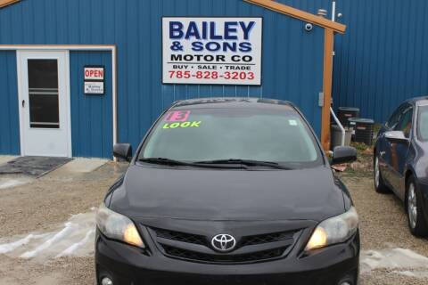 2013 Toyota Corolla for sale at Bailey & Sons Motor Co in Lyndon KS