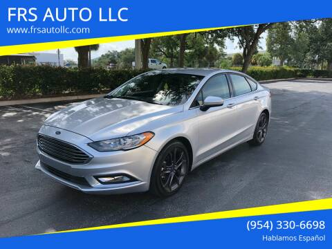 2018 Ford Fusion for sale at FRS AUTO LLC in West Palm Beach FL