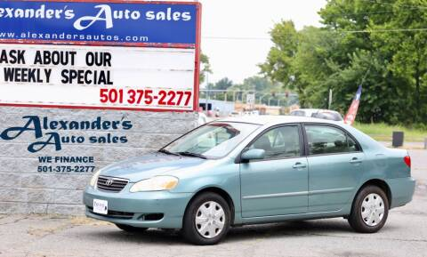 2005 Toyota Corolla for sale at Alexander's Auto Sales in North Little Rock AR