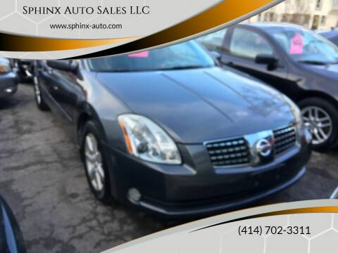2006 Nissan Maxima for sale at Sphinx Auto Sales LLC in Milwaukee WI