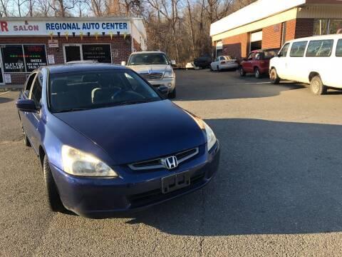 2003 Honda Accord for sale at REGIONAL AUTO CENTER in Stafford VA