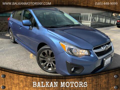 2014 Subaru Impreza for sale at BALKAN MOTORS in East Rochester NY