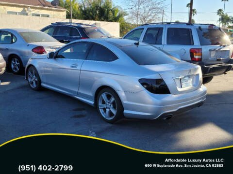 2012 Mercedes-Benz C-Class for sale at Affordable Luxury Autos LLC in San Jacinto CA