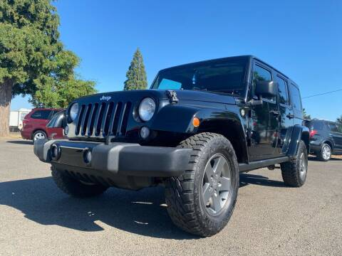 2015 Jeep Wrangler Unlimited for sale at Pacific Auto LLC in Woodburn OR