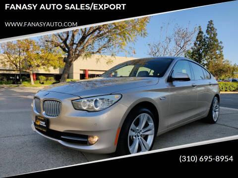 2010 BMW 5 Series for sale at FANASY AUTO SALES/EXPORT in Yorba Linda CA
