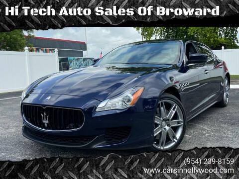 2014 Maserati Quattroporte for sale at Hi Tech Auto Sales Of Broward in Hollywood FL