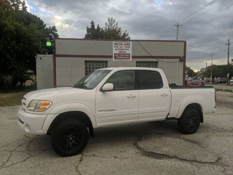 2004 Toyota Tundra for sale at Richland Motors in Cleveland OH