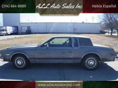 1985 Oldsmobile Toronado for sale at ALL Auto Sales Inc in Saint Louis MO