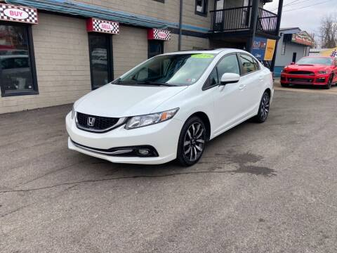 2015 Honda Civic for sale at Sisson Pre-Owned in Uniontown PA