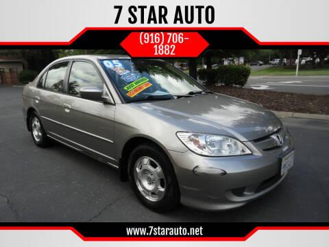2005 Honda Civic for sale at 7 STAR AUTO in Sacramento CA