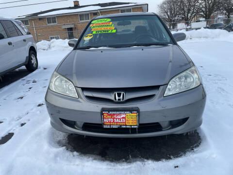 2004 Honda Civic for sale at RON'S AUTO SALES INC in Cicero IL