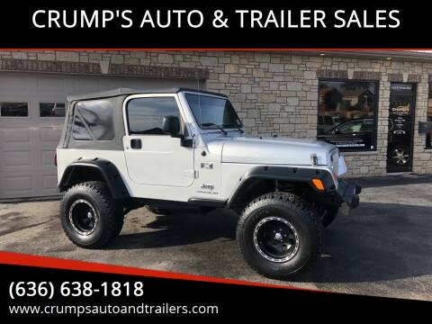 2006 Jeep Wrangler for sale at CRUMP'S AUTO & TRAILER SALES in Crystal City MO