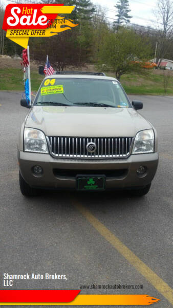 2004 Mercury Mountaineer for sale at Shamrock Auto Brokers, LLC in Belmont NH