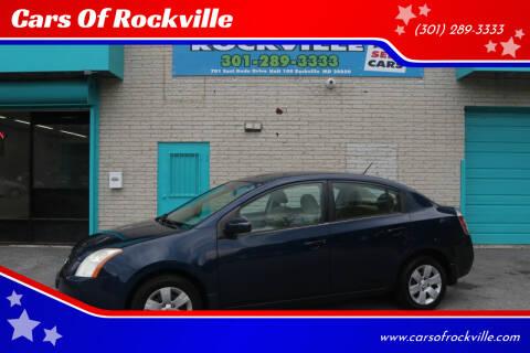 2008 Nissan Sentra for sale at Cars Of Rockville in Rockville MD