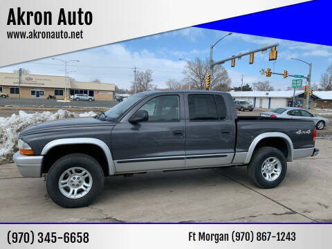 2003 Dodge Dakota for sale at Akron Auto - Fort Morgan in Fort Morgan CO