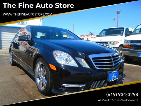 2012 Mercedes-Benz E-Class for sale at The Fine Auto Store in Imperial Beach CA