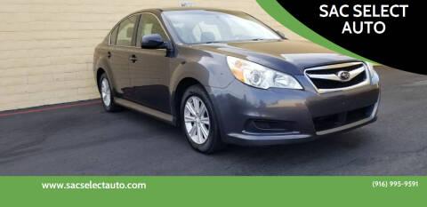 2011 Subaru Legacy for sale at SAC SELECT AUTO in Sacramento CA