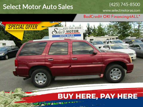 2005 Cadillac Escalade for sale at Select Motor Auto Sales in Lynnwood WA