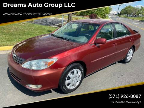 2003 Toyota Camry for sale at Dreams Auto Group LLC in Sterling VA