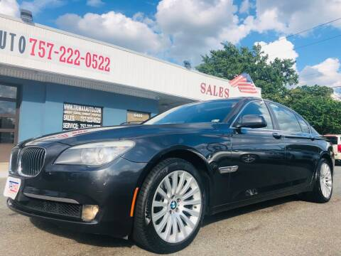 2011 BMW 7 Series for sale at Trimax Auto Group in Norfolk VA