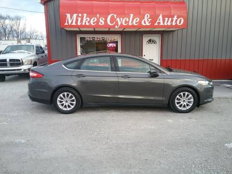 2016 Ford Fusion for sale at MIKE'S CYCLE & AUTO in Connersville IN