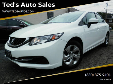 2015 Honda Civic for sale at Ted's Auto Sales in Louisville OH