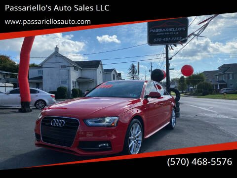 2014 Audi A4 for sale at Passariello's Auto Sales LLC in Old Forge PA