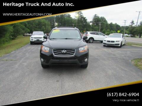 2011 Hyundai Santa Fe for sale at Heritage Truck and Auto Inc. in Londonderry NH
